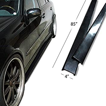 """Urethane UNIVERSAL FIT Side Skirt Extensions Splitter Lip 85"""" Long. Can be cut to size."""