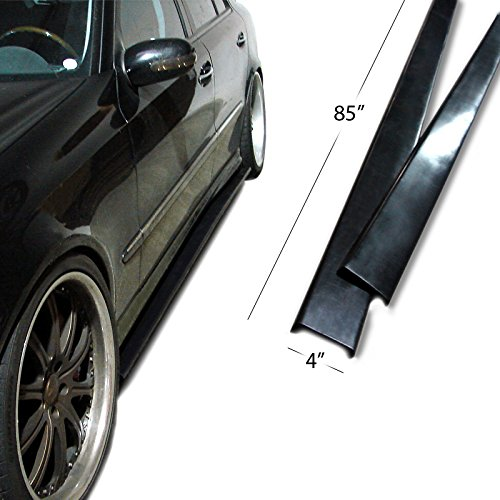 Urethane UNIVERSAL FIT Side Skirt Extensions Splitter Lip 85