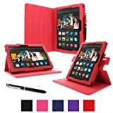 "rooCASE Kindle Fire HDX 8.9"" Dual-View Folio Case Cover - Red (November 2013 Version)"