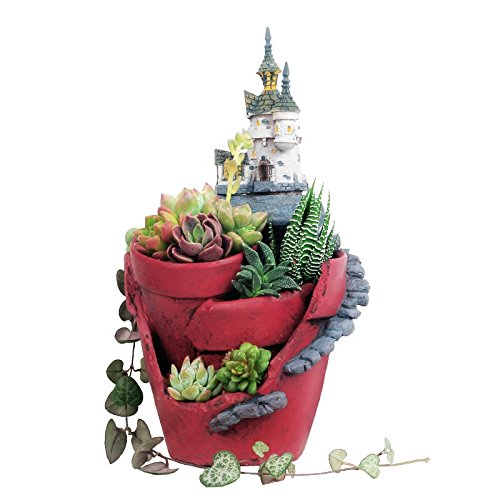 Magic Castle Flower Pots Resin Flowerpot