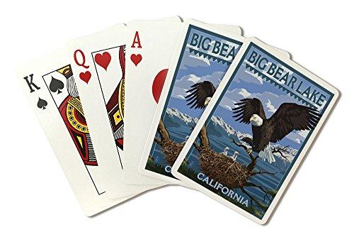Big Bear Lake, California - Bald Eagle and Chicks (Playing Card Deck - 52 Card Poker Size with - Bald Chicks