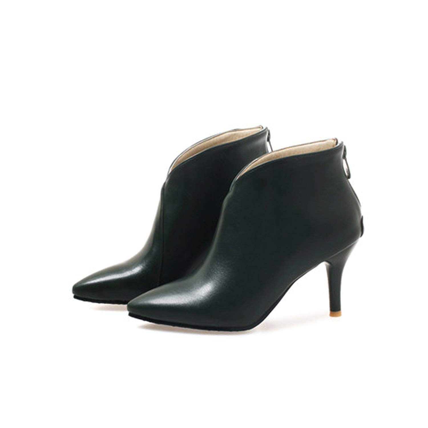 3 Large Size Women Boots Pointed Toe High Heels Women's shoes Sexy Autumn Winter Ankle Boots