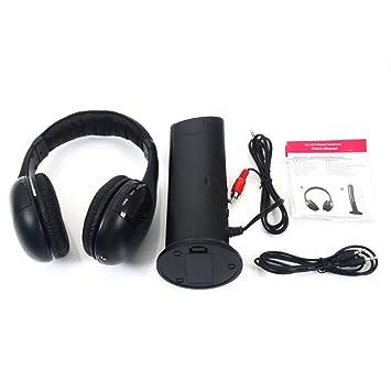 5 en 1 auriculares inalámbricos auriculares para MP3/MP4 pc TV CD Radio FM Auriculares