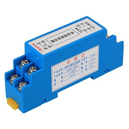 Ewead, DC24V 0-100 C RTD PT100 DIN Rail Type Temperature Sensor Transmitter 0~5V Output