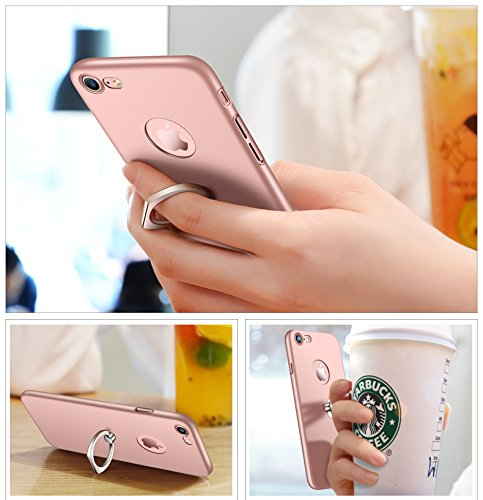 Bague Lgre Case Rotatif 6S Ultra Plus Mince Coque Or Matte Surface iPhone Plus Premium iPhone Support Lisse Vanki pour avec 6 wUnYY4TZ