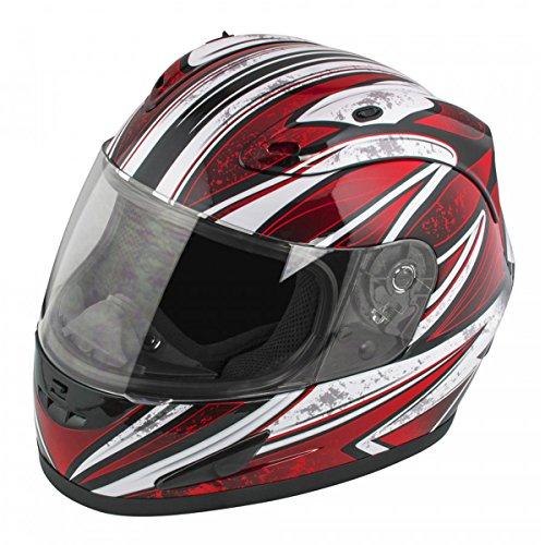 16 Solid Full Face - Raider Octane Full Face Helmet (Red, X-Large)