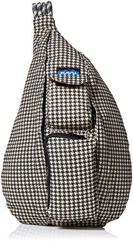 KAVU Rope Bag-Black Houndstooth (Cotton Sling Shoulder Bag)