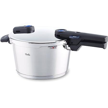 Fissler vitaquick 600-300-04-000/0 Cómoda olla a presión de 4,5 litros que resulta muy fácil de manejar y es apta para todo tipo de cocinas