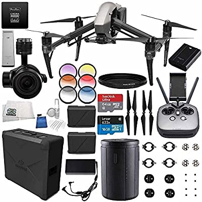 DJI Inspire 2 Premium Combo with Zenmuse X5S and CinemaDNG and Apple ProRes Licenses Videographer 240G PRO Bundle by SSE