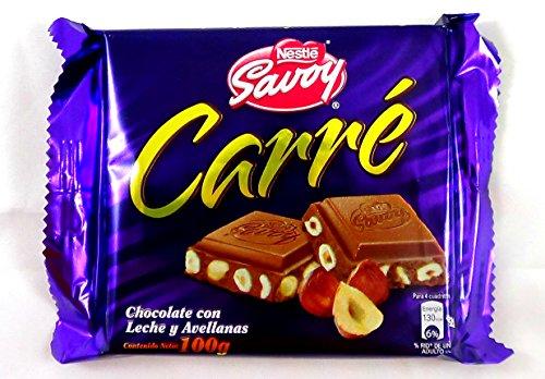 Amazon.com : Carré Autentico Chocolate Savoy Venezolano 1 Box, 10 Bars (Hazelnuts) : Grocery & Gourmet Food