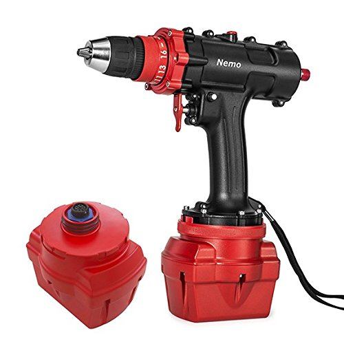 Red Coral Long Drill - Bundle - Nemo V2 DIVERS Cordless Underwater Drill + Heavy Duty Tool Leash