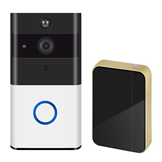 Amazon.com : NewPal Wireless doorbell 720P HD Security Camera with 166-Degree Wide Angle Lens Two-Way Audio PIR Motion Detection Night Vision Smart Home ...