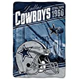 1 Piece NFL Cowboys Stagger Oversized Throw Blanket 62 X 90 Inches, Football Themed Bedding Sports P