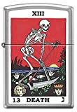Tarot XIII Death Card skeleton with Sickle Chrome Zippo Lighter