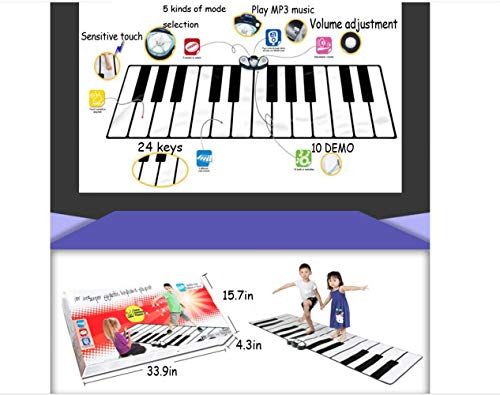 QXMEI Children's Educational Foot Dance Mat Multi-Function Electronic Piano Toy 26074 cm by QXMEI (Image #1)