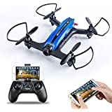 FPV Racing Drone- Flytec T18 RTF FPV Quadcopter Drone with 720P Wide-Angle HD Camera Live Video RC Quadcopter and Easy to Fly for Beginner, Compatible with VR Headset (Blue)