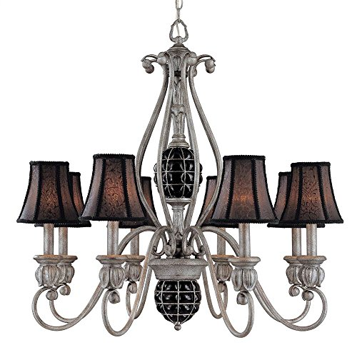 Argento Bronze Finish (Catturatto 8-Light Chandelier in Argento Negro Finish)