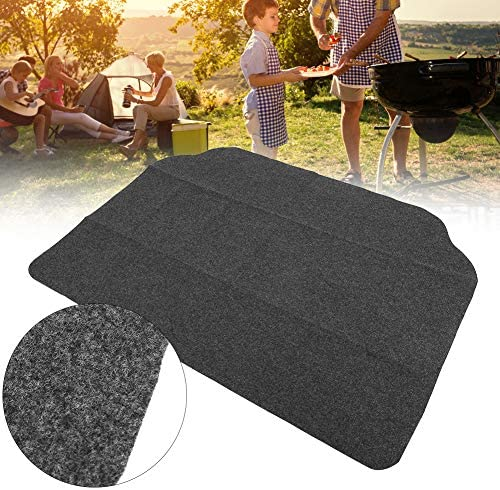 Tapis de barbecue antidérapant Tapis de barbecue noir duarable pour pique-nique de camping