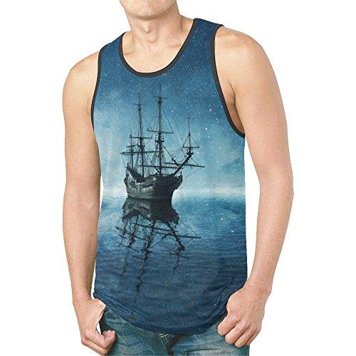 (INTERESTPRINT Ghost Pirate Ship Men's Tank Tops T-Shirt Gym Workout XXL)