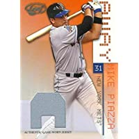 $26 » Mike Piazza baseball card player worn jersey patch (New York Mets) 2003 Leaf #8 LE 145/250 - MLB Game Used Jerseys
