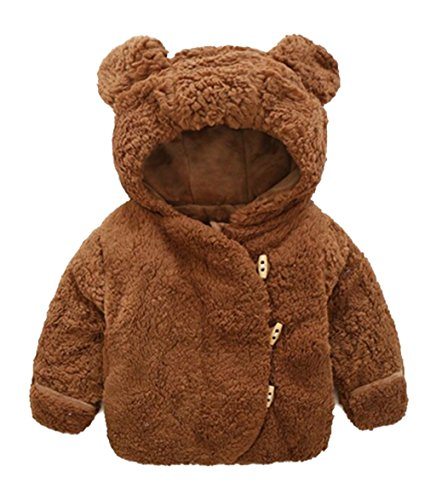 4e8988c2e5 Infant Baby Boys Girls Cartoon Bear Animal Hooded Fleece Jacket Winter Warm  Coat
