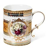 Euro Porcelain Coffee Mug Teacup Gift Se