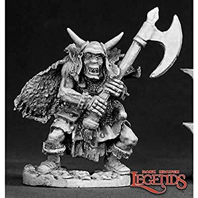 Reaper Miniatures Ferach Orc Warlord #02318 Dark Heaven Legends D&D Mini Figure: Toys & Games