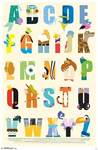 Trends International Disney – Alphabet Wall Poster, 24.25 X 35.75 , Multi