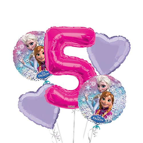 Frozen Balloon Bouquet 5th Birthday 5 pcs - Party Supplies ()