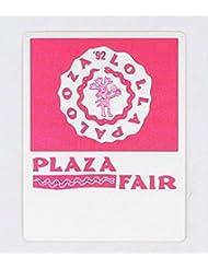 LOLLAPALOOZA 1992 PLAZA FAIR CONCERT TOUR SATIN SILK CLOTH STICKY BACKSTAGE PASS