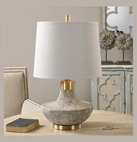 Uttermost Volongo Stone Ivory Lamp