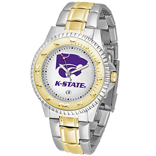 (Linkswalker Mens Kansas State Wildcats Competitor Two Tone Watch)