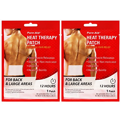 Pure-aid Heat Therapy Patch Back & large areas-1 patches (2 pack)