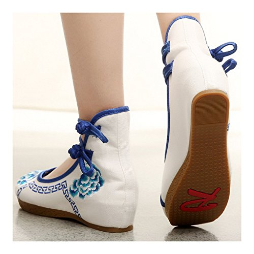 Shoes blue 37 Beijing Old Slipsole Embroidered Cloth XqYdwtF