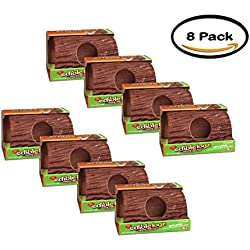 PACK OF 8 - 8In1 Pet Products 3In1 Chew Treat Hide Away Wild Harvest Edible Logz, 8.5 Oz