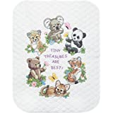 Dimensions Needlecrafts Stamped Cross Stitch, Baby Animals Quilt