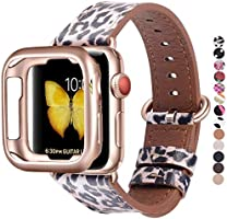 JSGJMY Compatible for Iwatch Band 38mm 40mm 42mm 44mm Women Genuine Leather Replacement Strap for Iwatch Series 5 4 3 2 1