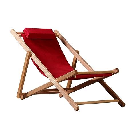 CHDE Chaise lounge Silla reclinable plegable para el hogar ...