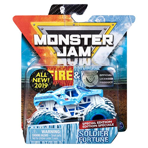 (MJ 2019 Monster Jam Fire & Ice Soldier Fortune Special Edition 1:64)