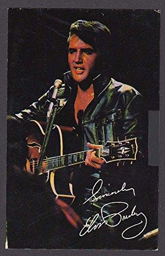 Singers Presents - Singer Presents Elvis Presley International Hotel Las Vegas NV postcard 1969