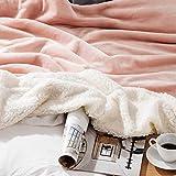 BEDSURE Sherpa Fleece Blanket King Size Dusty Pink