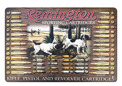 AlPrints ShopForAllYou Decor Signs Remington Sporting Rifle Pistol Revolver cartridges Big Wall Decor