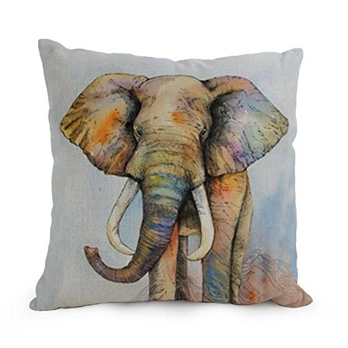 Alphadecor 12 X 20 Inches / 30 By 50 Cm Elephant Throw Pillow Case ,each Side Ornament And Gift To Shop,kitchen,home Theater,living Room,club,gf