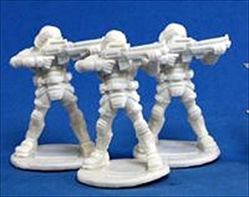 Reaper Miniatures 80011 Bones - Chrono Nova Corp Guard 3 Miniature by Reaper ()