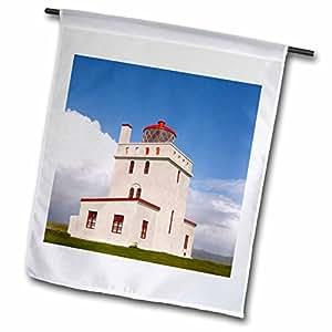Danita Delimont - Lighthouses - Iceland, Vik, Dyrholaey Light, Lighthouse - EU14 LEN0107 - Lisa S. Engelbrecht - 18 x 27 inch Garden Flag (fl_81933_2)