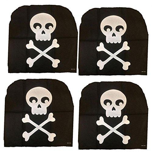 Pirate Birthday-SKULL & CROSSBONES CHAIR COVERS-Haunted House