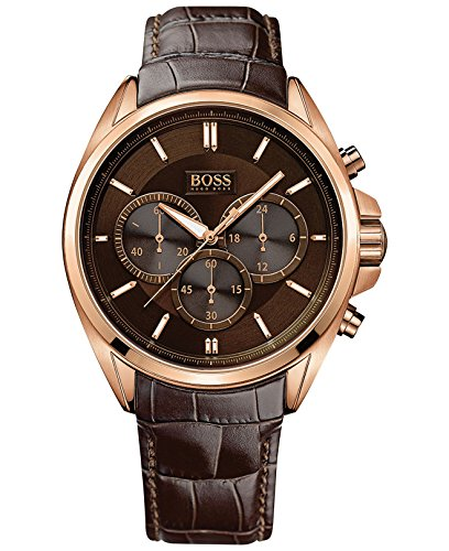Hugo Boss 1513036 Chronograph Mens Watch - Brown Dial Quartz Movement