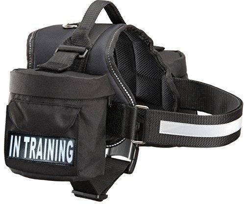 - Doggie Stylz in Training Service Dog Harness with Removable Saddle Bag Backpack Pack Carrier Traveling Carrying Bag. 2 Removable in Training Patches. Please Measure Dog Before Ordering. Made
