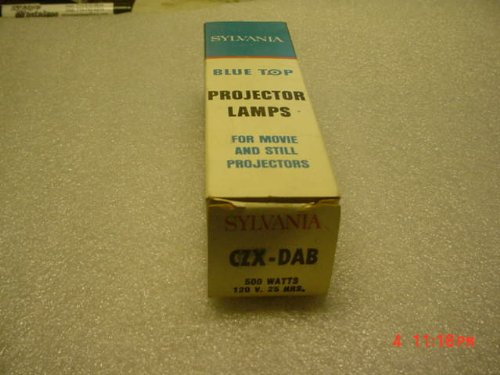 Sylvania CZX / DAB 500 Watts 120 Volt Projector Lamp Light Bulb