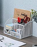 EasyPAG Mesh Desk Organizer 6 Compartments with